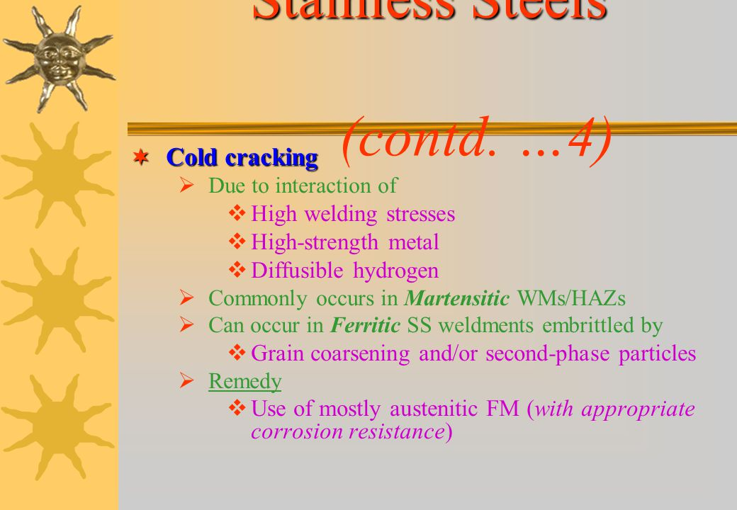 Stainless Steels (contd. …4)