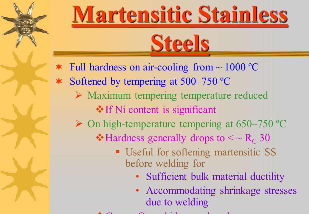Martensitic Stainless Steels