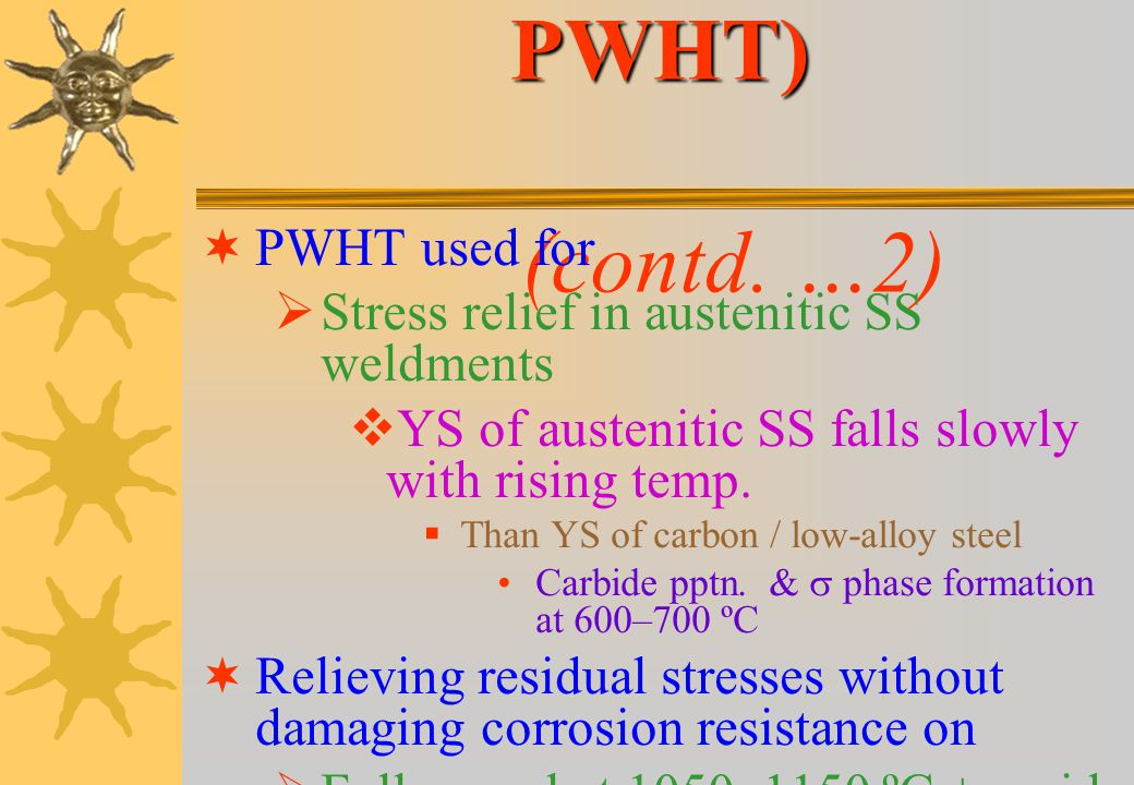 Austenitic SS (after PWHT) (contd. …2)