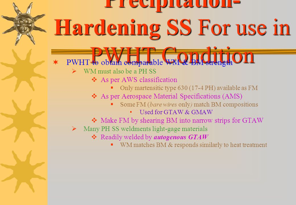 Precipitation-Hardening SS For use in PWHT Condition
