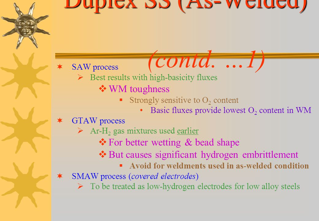 Duplex SS (As-Welded) (contd. …1)