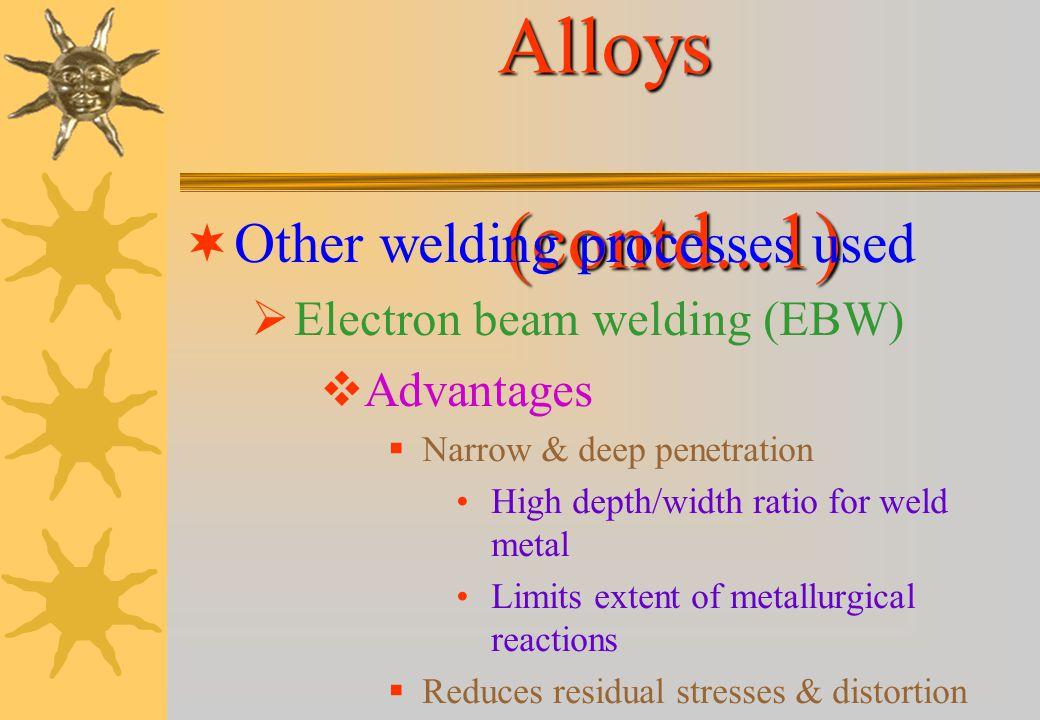 Welding of Aluminium Alloys (contd...1)