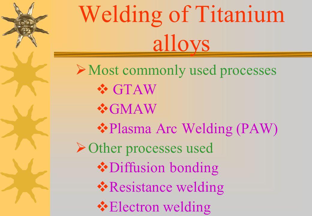 Welding of Titanium alloys