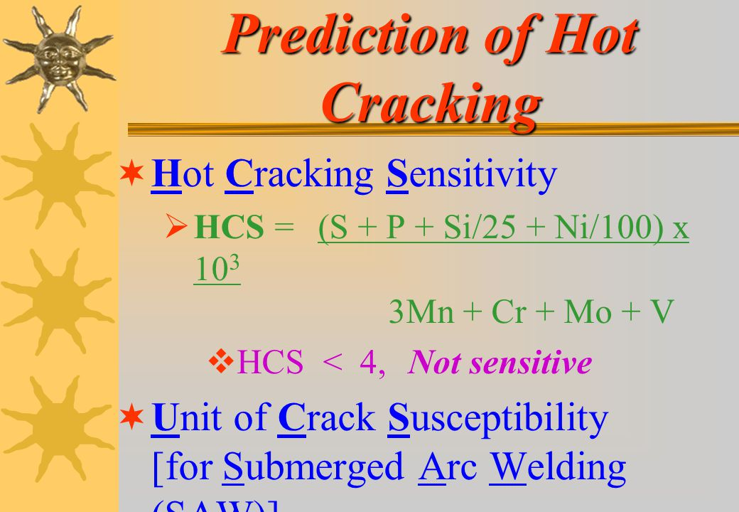 Prediction of Hot Cracking