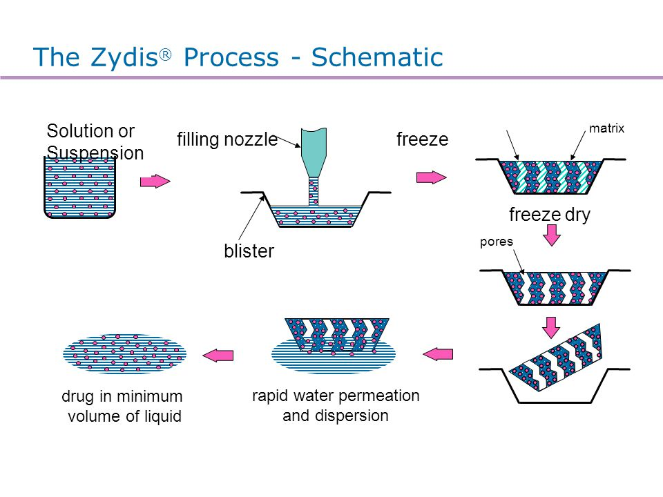 Zydis® Manufacturing process
