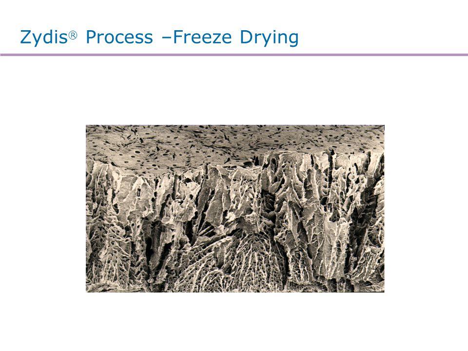 Zydis® Process –Eutectic Freezing Curve