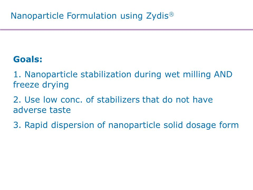 Nanoparticle Stability in Zydis®