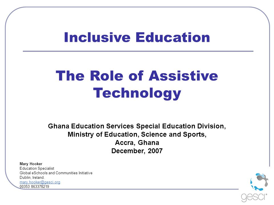 The Role of Assistive Technology