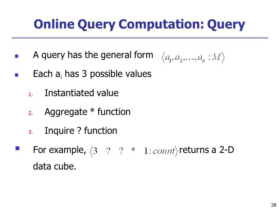 Online Query Computation: Query