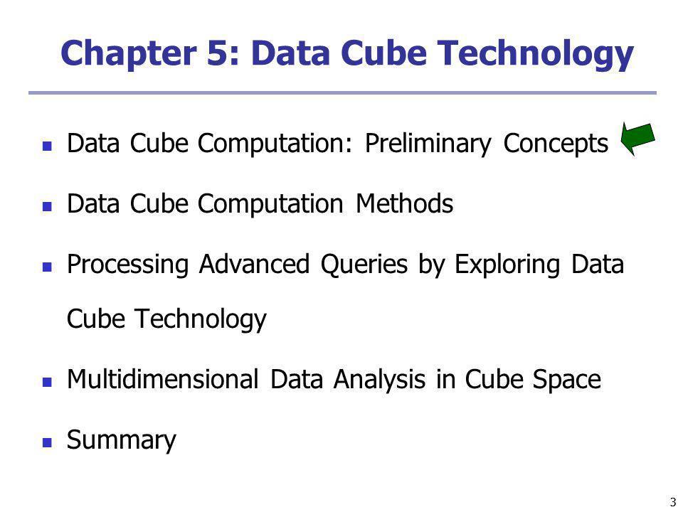 Chapter 5: Data Cube Technology