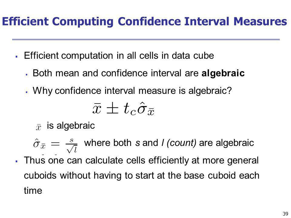 Efficient Computing Confidence Interval Measures