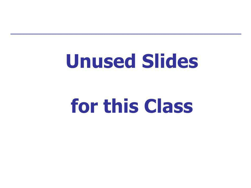 Unused Slides for this Class