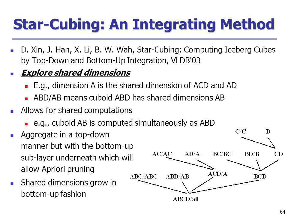 Star-Cubing: An Integrating Method