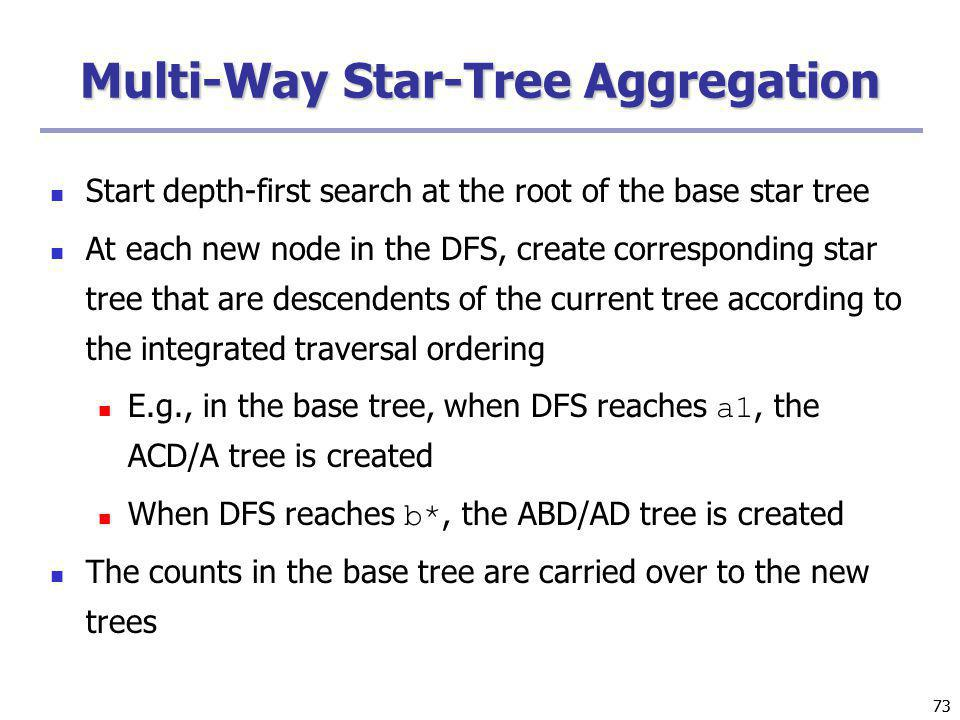 Multi-Way Star-Tree Aggregation