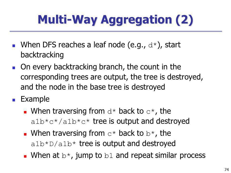 Multi-Way Aggregation (2)