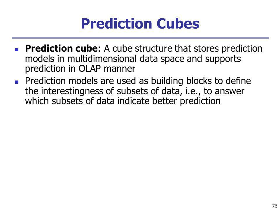 Prediction Cubes