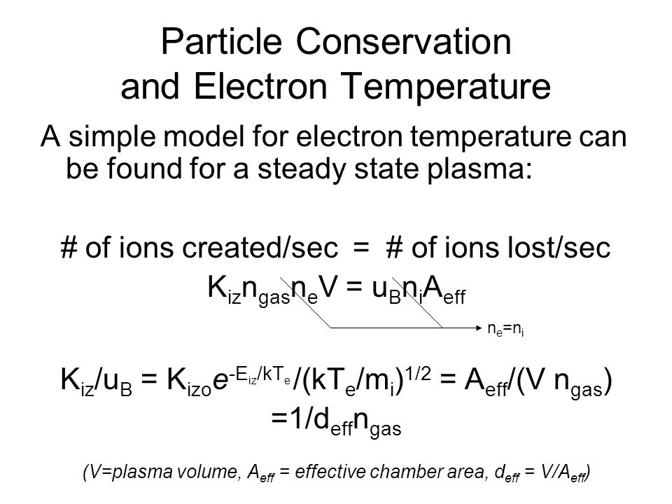 Particle Conservation and Electron Temperature