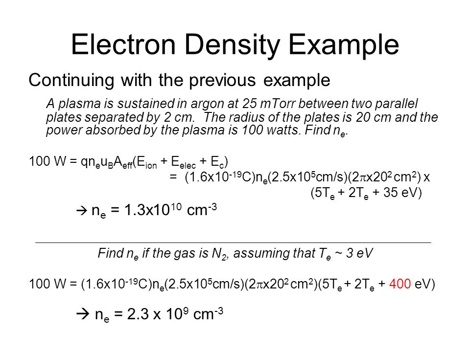 Electron Density Example