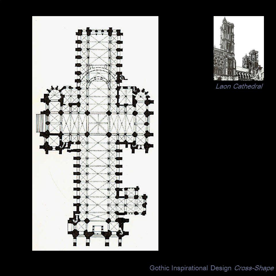 Gothic Inspirational Design Cross-Shape