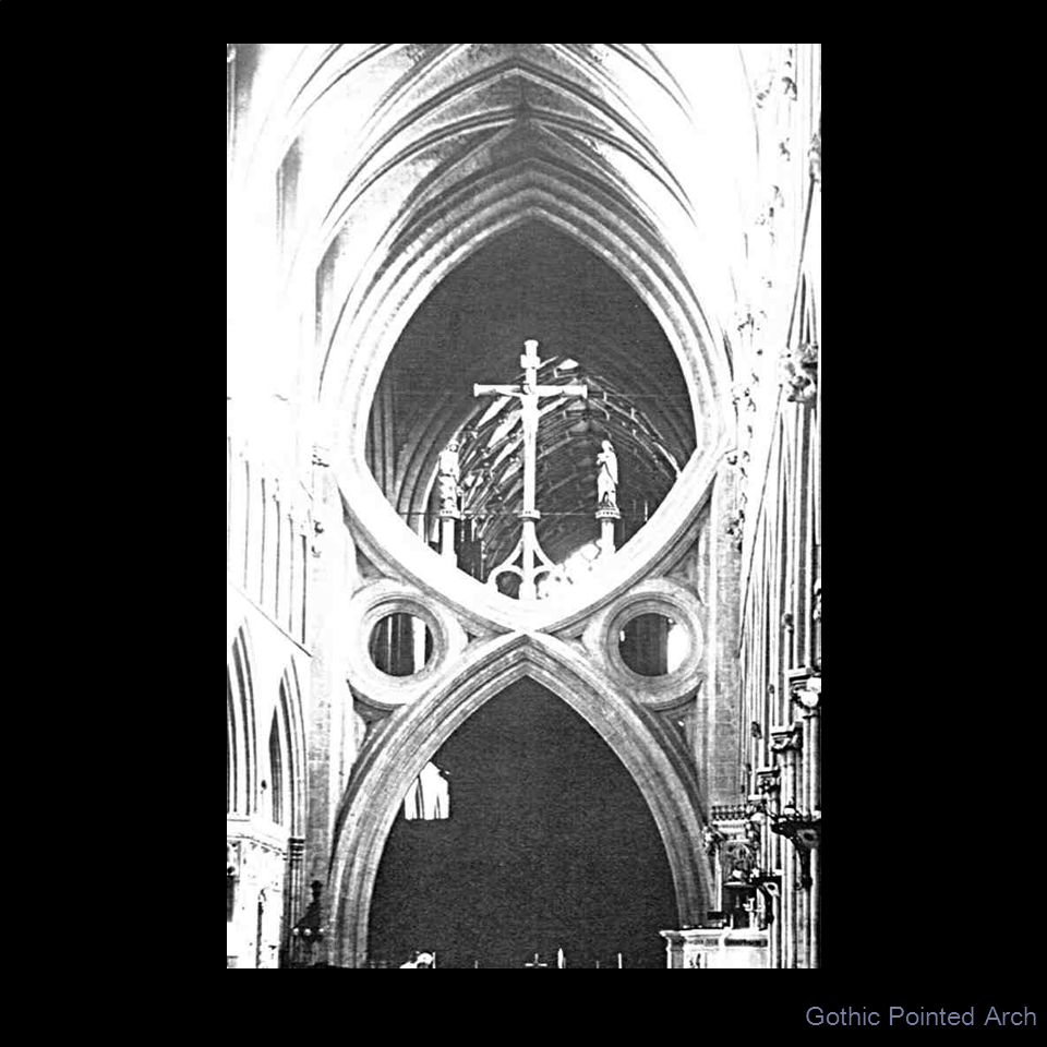 Gothic Pointed Arch UNIT: ART OF THE MIDDLE AGES IN EUROPE