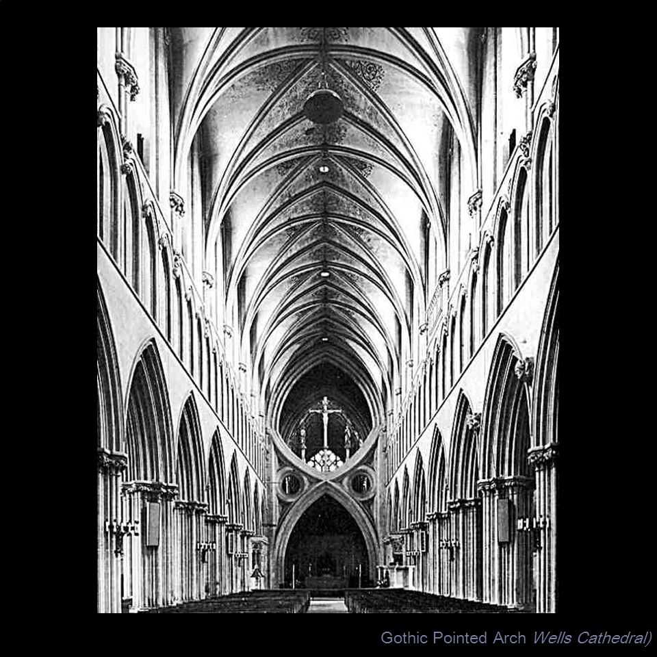 Gothic Pointed Arch Wells Cathedral)