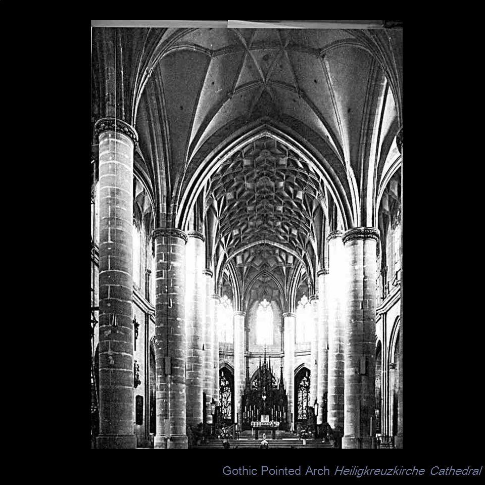 Gothic Pointed Arch Heiligkreuzkirche Cathedral