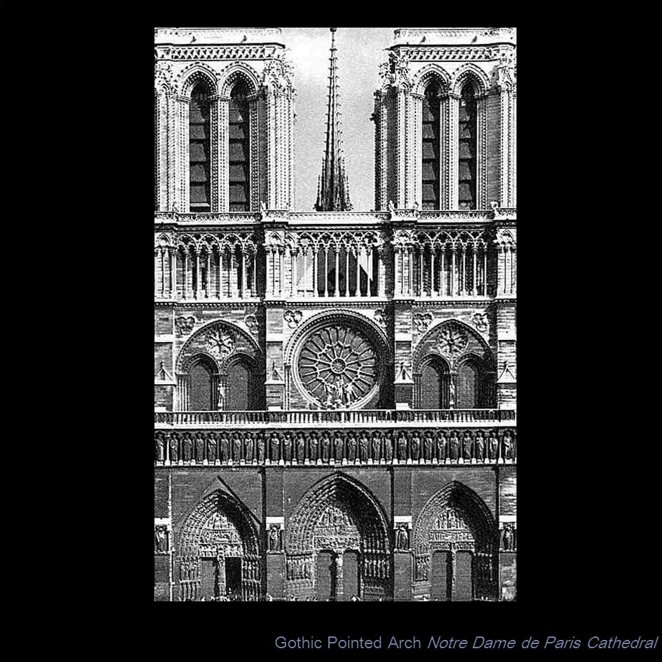 Gothic Pointed Arch Notre Dame de Paris Cathedral
