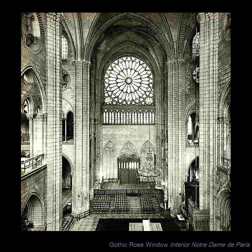 Gothic Rose Window Interior Notre Dame de Paris