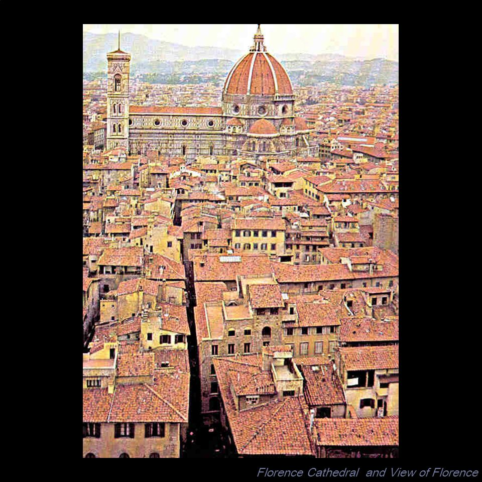 Florence Cathedral and View of Florence
