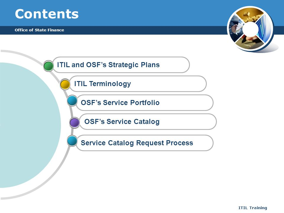 Contents ITIL and OSF's Strategic Plans ITIL Terminology