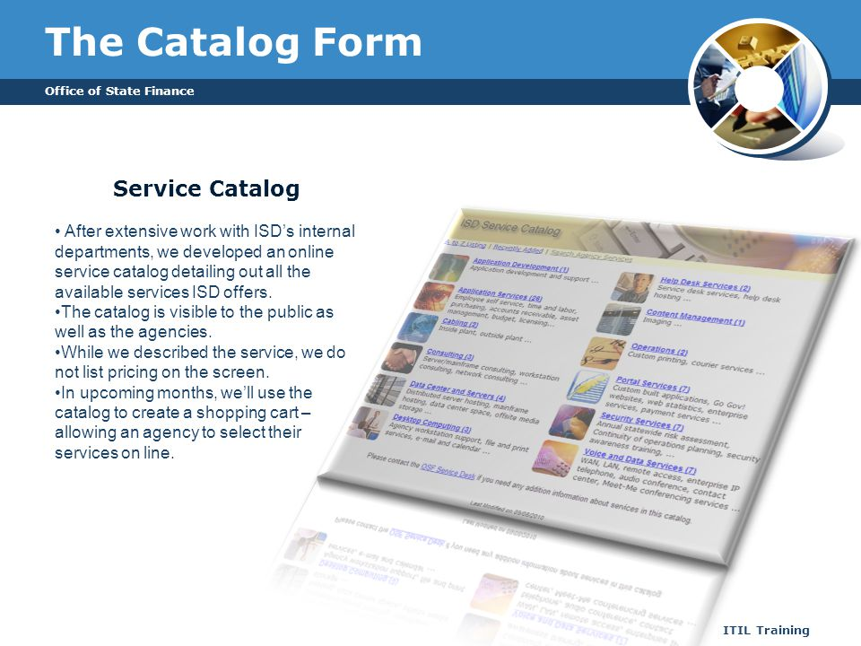 The Catalog Form Service Catalog
