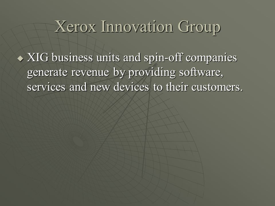 Xerox Innovation Group