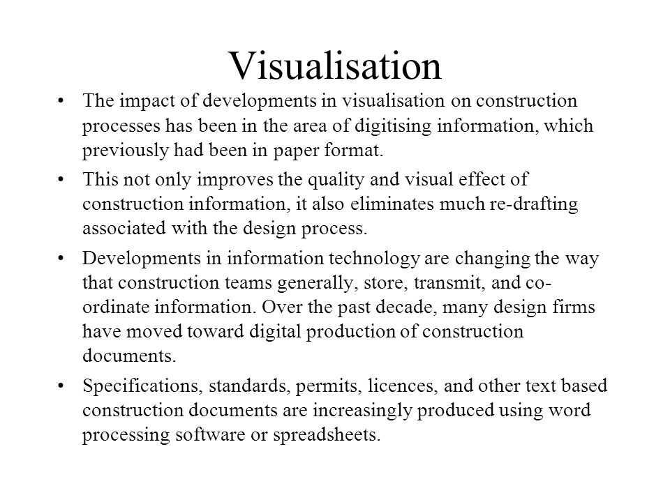 Visualisation