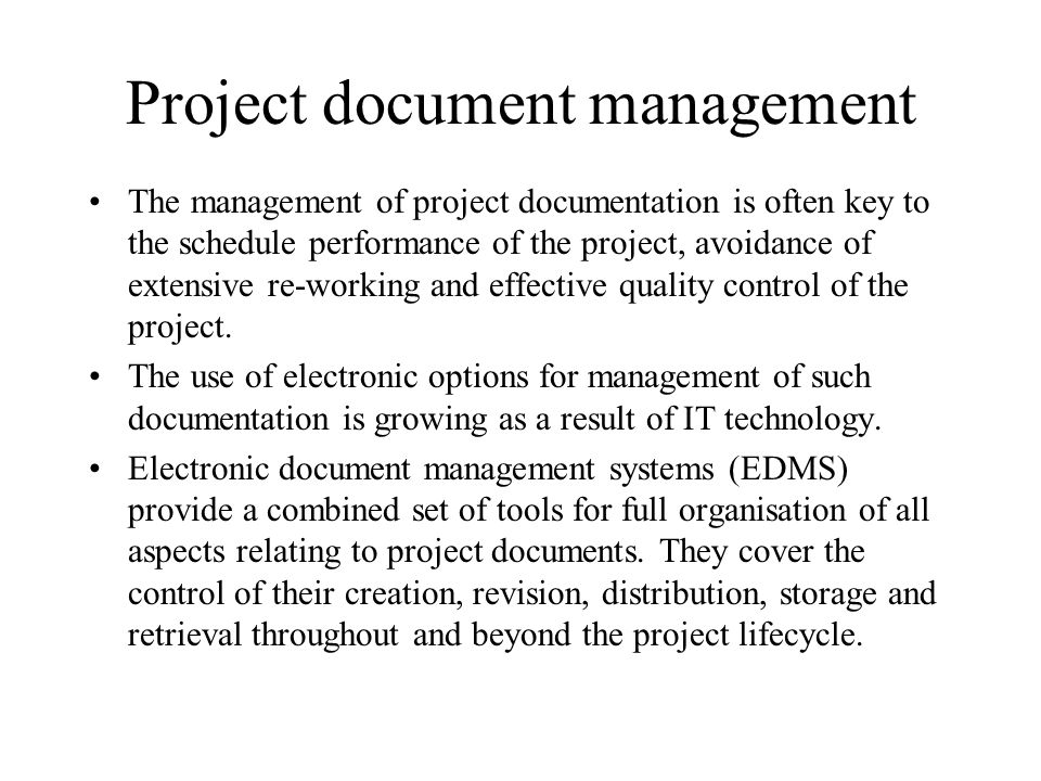Project document management