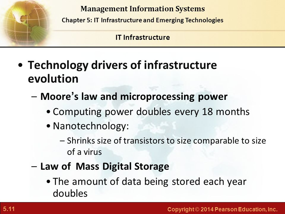 what are the stages and technology drivers of it infrastructure evolution The it infrastructure in organizations today is an outgrowth of over 50 years of evolution in computing platforms there have been five stages in this evolution, each representing a different configuration of computing power and infrastructure elements.