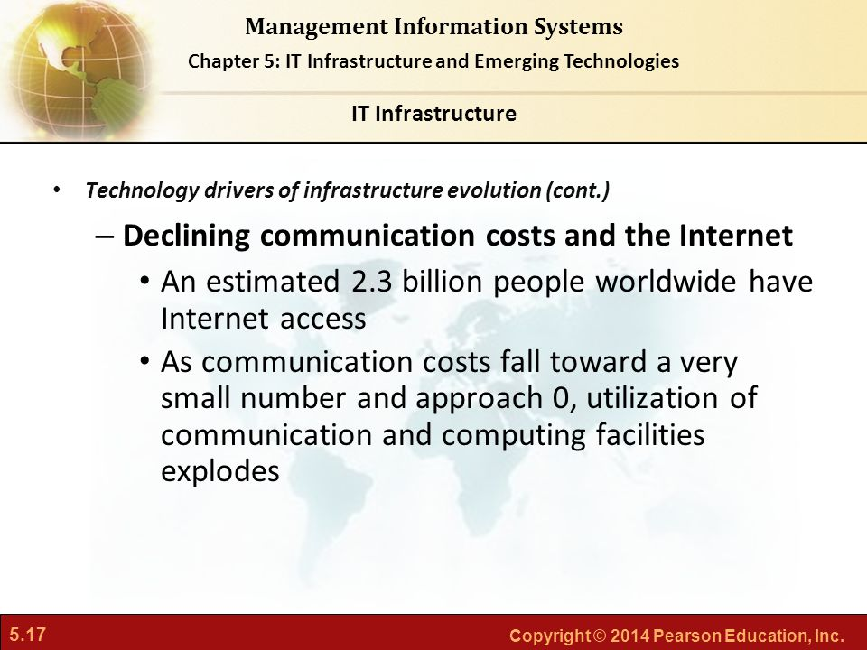 Declining communication costs and the Internet