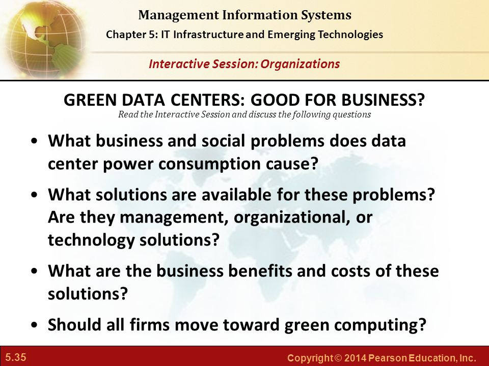 GREEN DATA CENTERS: GOOD FOR BUSINESS