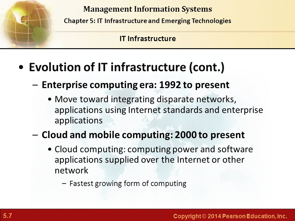 Evolution of IT infrastructure (cont.)