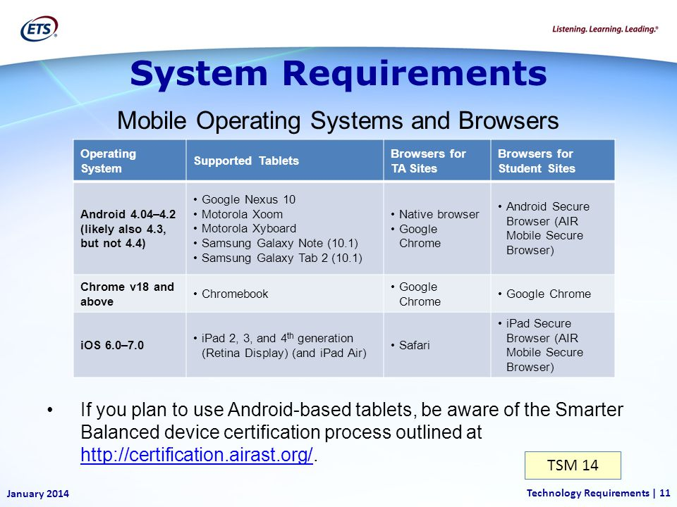 Mobile Operating Systems and Browsers