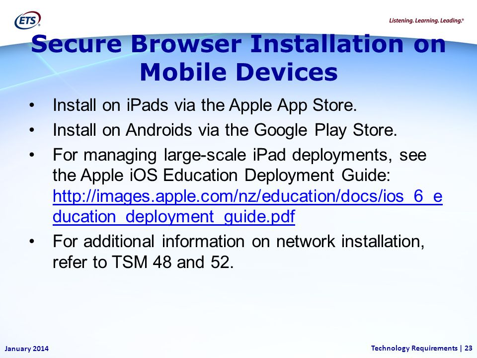 Secure Browser Installation on Mobile Devices
