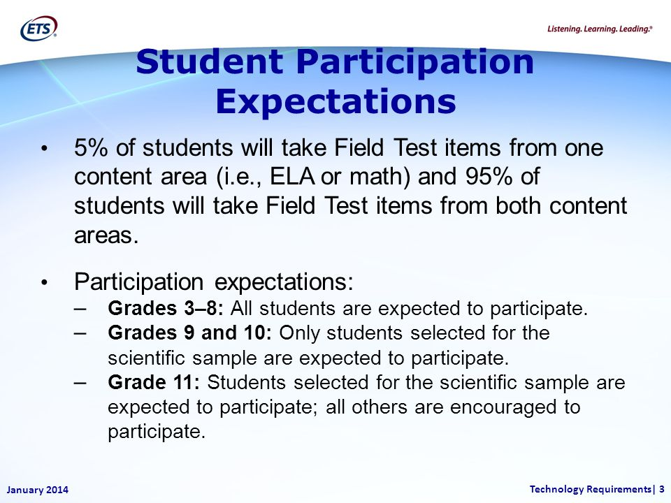 Student Participation Expectations