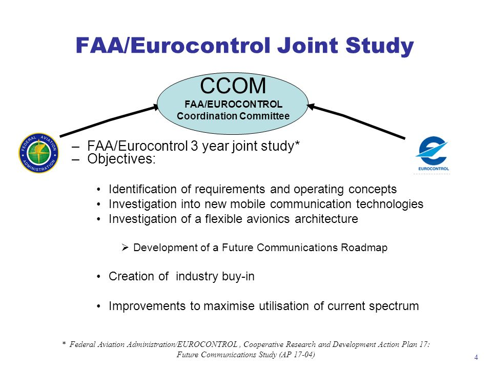 FAA/Eurocontrol Joint Study