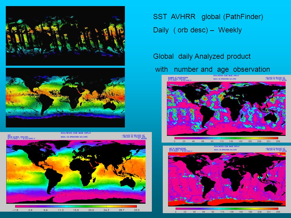 SST AVHRR global (PathFinder)