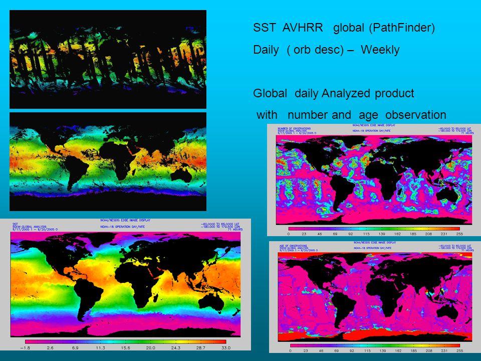 SST AVHRR global (PathFinder)