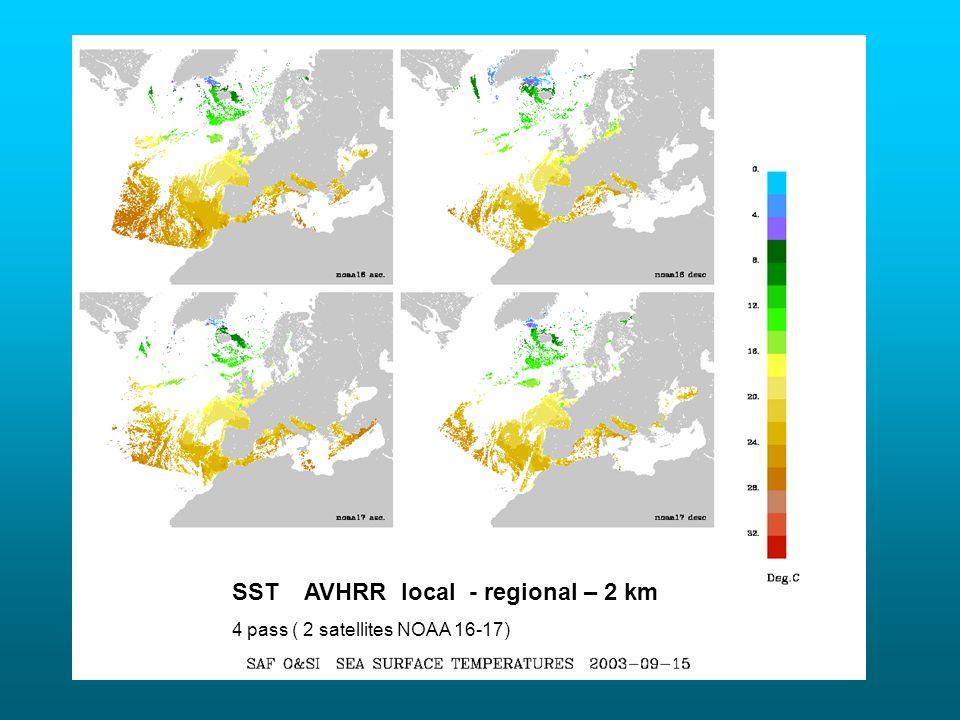 SST AVHRR local - regional – 2 km