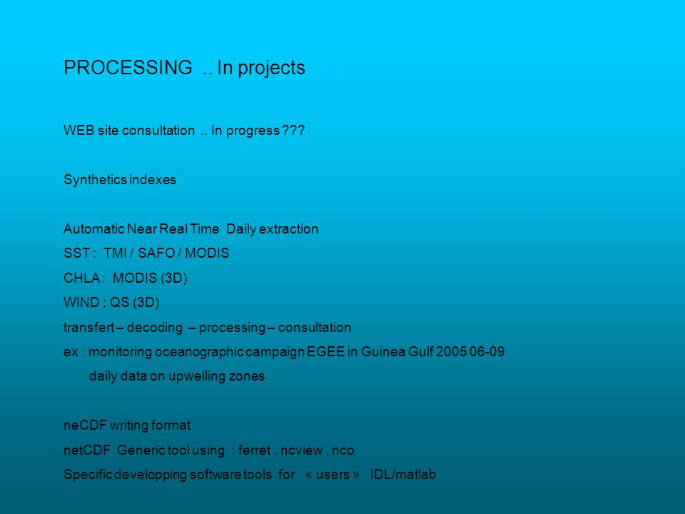 PROCESSING .. In projects