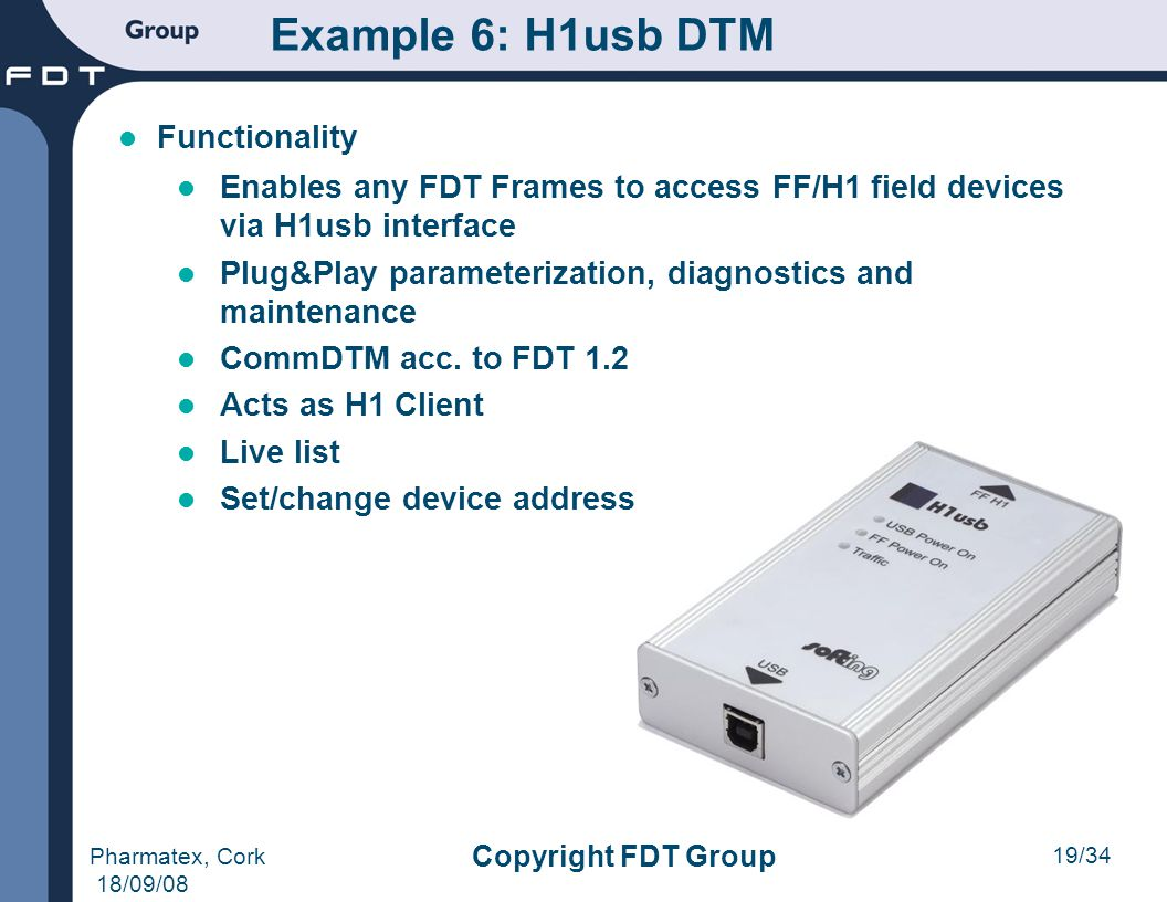 Example 6: H1usb DTM Functionality