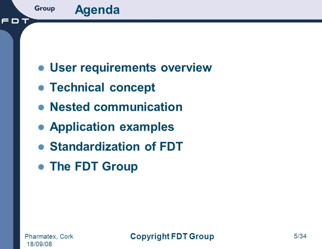 Agenda User requirements overview Technical concept