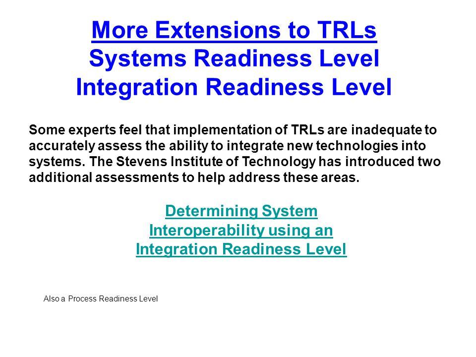 Interoperability using an Integration Readiness Level