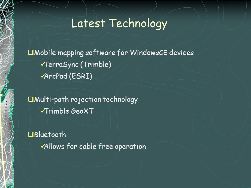 Latest Technology Mobile mapping software for WindowsCE devices